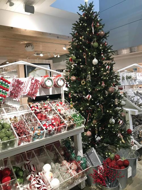 お店には早くもクリスマスツリーやデコレーション売り場も登場しています