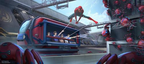 「スパイダーマン」をテーマにした新しいアトラクションも誕生予定です (c) Disney