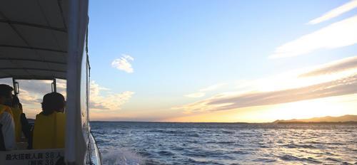 夕映えの浜名湖