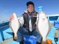 北海道・留萌沖 50センチ超ヒラメ満喫 - 釣り : 日刊スポーツ