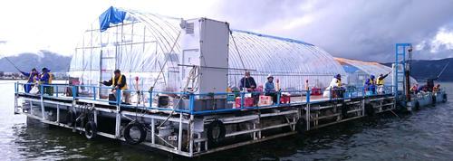 ワカサギ釣りのドーム船は、今年も9月21日からスタート