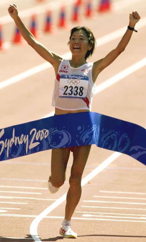 2000年シドニー五輪で優勝した高橋尚子