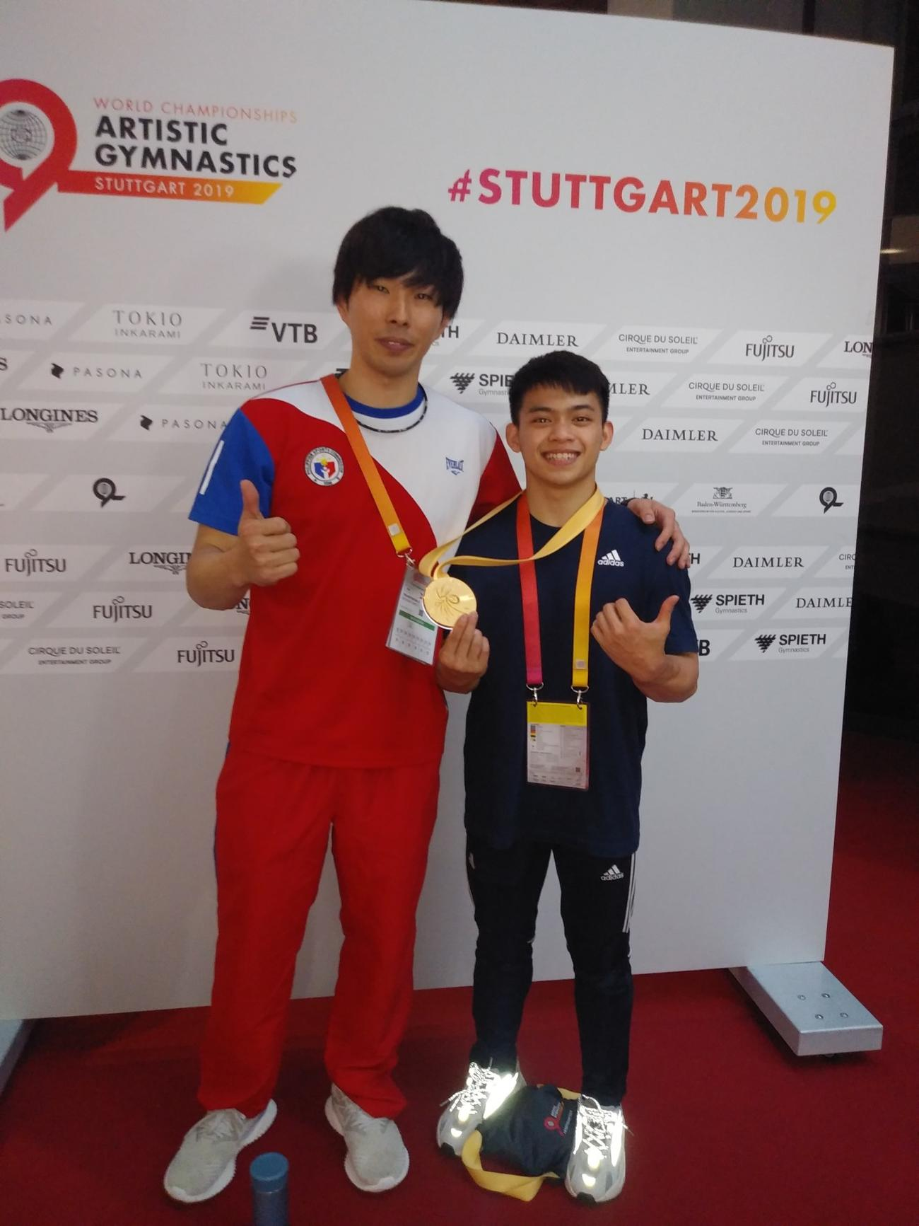 釘宮コーチ(左)とユーロ