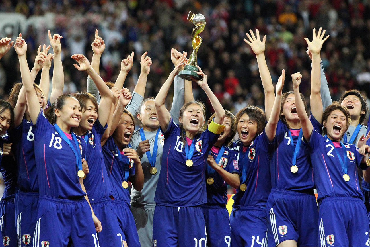 11年女子W杯で優勝を飾ったなでしこジャパン(撮影・PIKO)