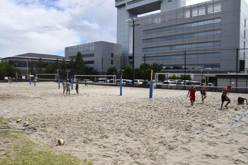 NTCビーチバレーボール競技特別強化拠点の川崎マリエン(撮影・平山連)