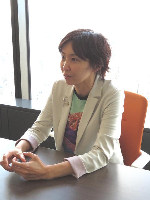 大会スポンサーになった経緯を説明する東武タワースカイツリーの小杉真名美さん(撮影・峯岸佑樹)