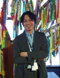 東京スカイツリーのプロモーションイベントが無事に終わり、笑顔を見せる池田信太郎さん(撮影・奥岡幹浩)