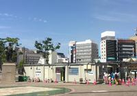 JR大分駅北口のローターリーに開設された抗原検査センター(撮影・峯岸佑樹)
