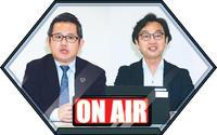 ニッポン放送の洗川雄司アナウンサー(左)と山内宏明アナウンサー