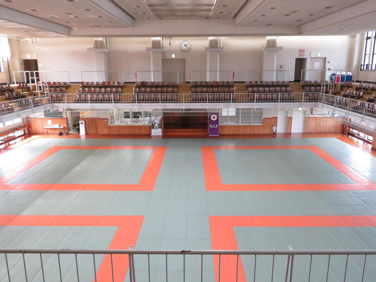 東京五輪の公式練習会場となる講道館の大道場(撮影・峯岸佑樹)