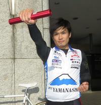 空手の金メダル獲得を期待する競輪選手の志村龍己