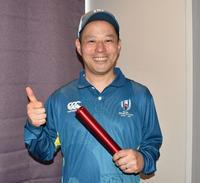 ラグビーW杯ボランティアに参加する竹沢正剛さん