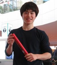 グランドファイナルのダブルス準優勝で終え、経由地ドイツから帰国した卓球男子森薗政崇