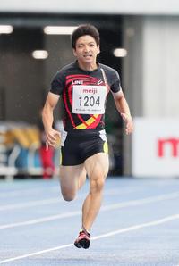 男子200メートルT12を日本新記録で制した山路(撮影・足立雅史)