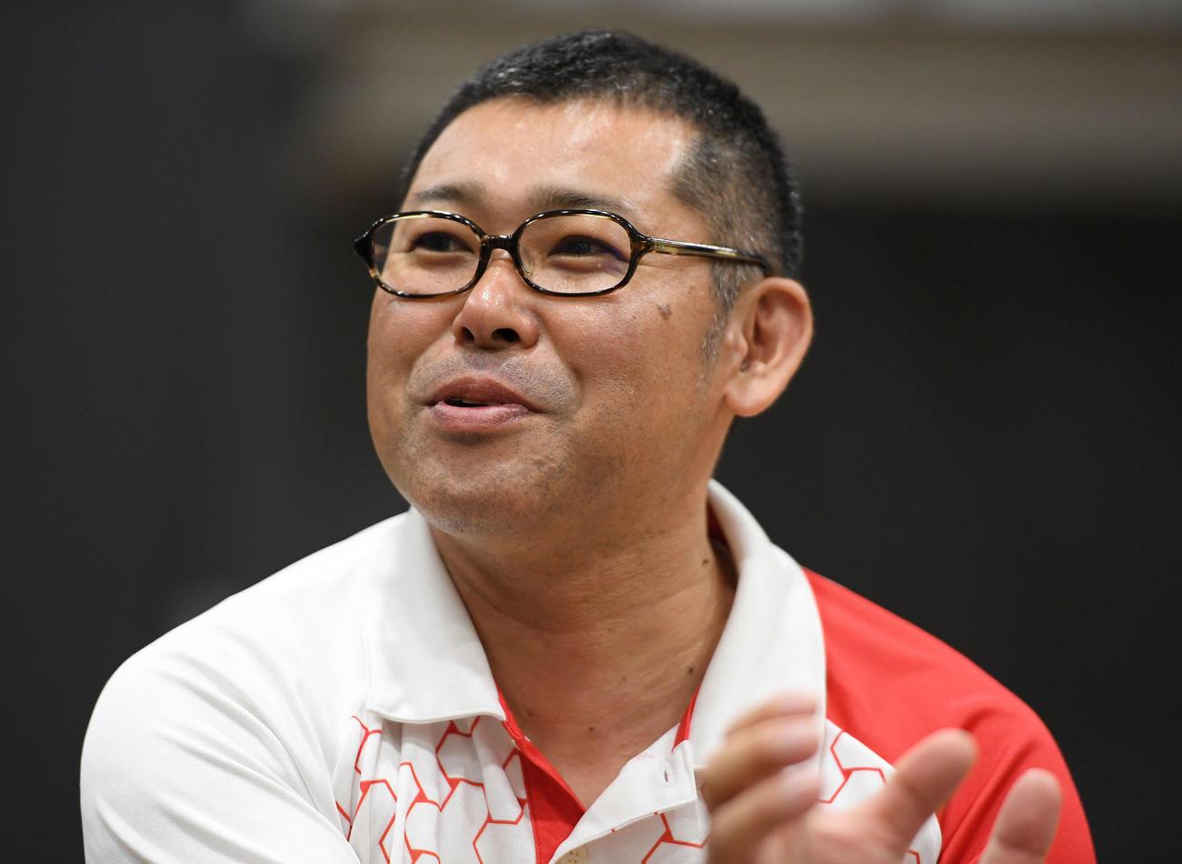 ボッチャ日本代表の村上監督(2019年6月22日撮影)