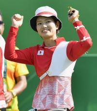 アーチェリー川中香緒里2回戦進出、終盤突き放す - アーチェリー : 日刊スポーツ