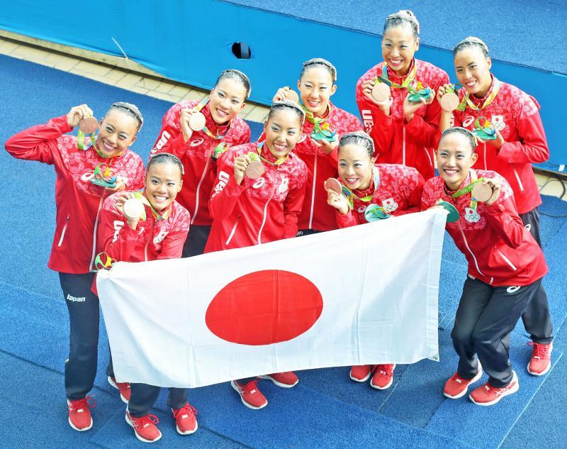 シンクロ日本涙の銅メダル!井村式スパルタで復活
