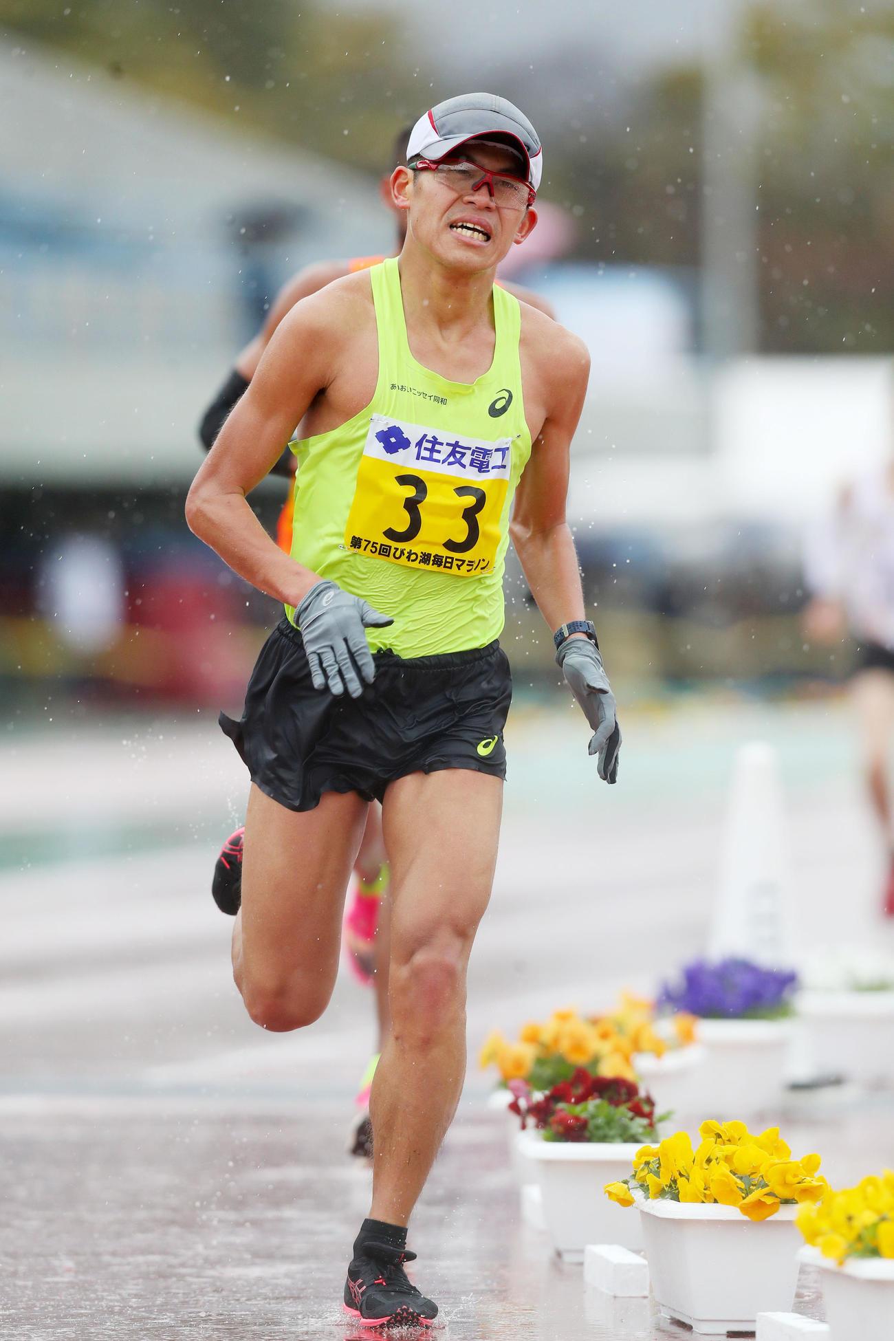 びわ湖毎日マラソン 25位に終わった川内優輝(撮影・前田充)