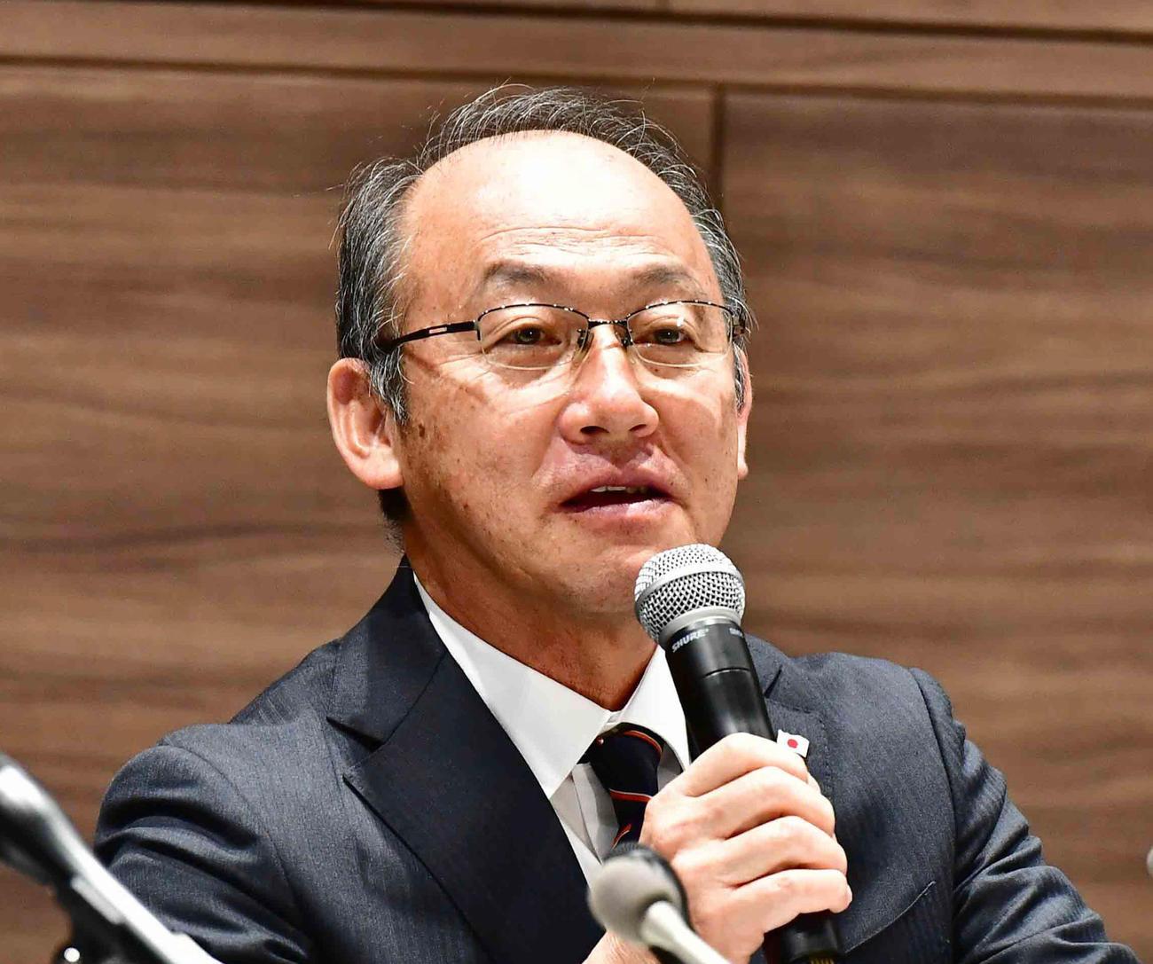 日本陸連・麻場一徳強化委員長(2019年11月5日)