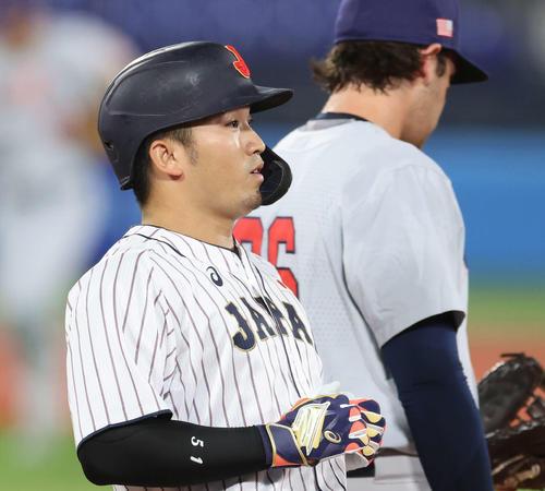 日本対米国 1回裏日本2死三塁、三ゴロに倒れた鈴木(撮影・河野匠)