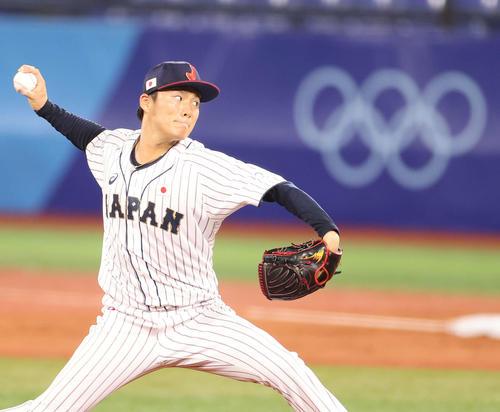 日本対韓国 力投する日本先発の山本(撮影・河野匠)