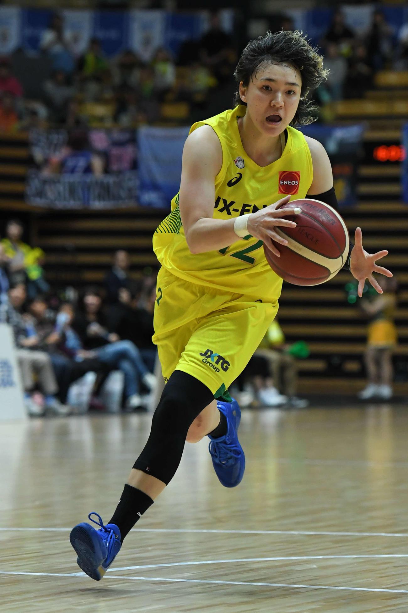 女子バスケットボールWリーグのJX-ENEOSを退団した日本代表候補の吉田(C)Wリーグ