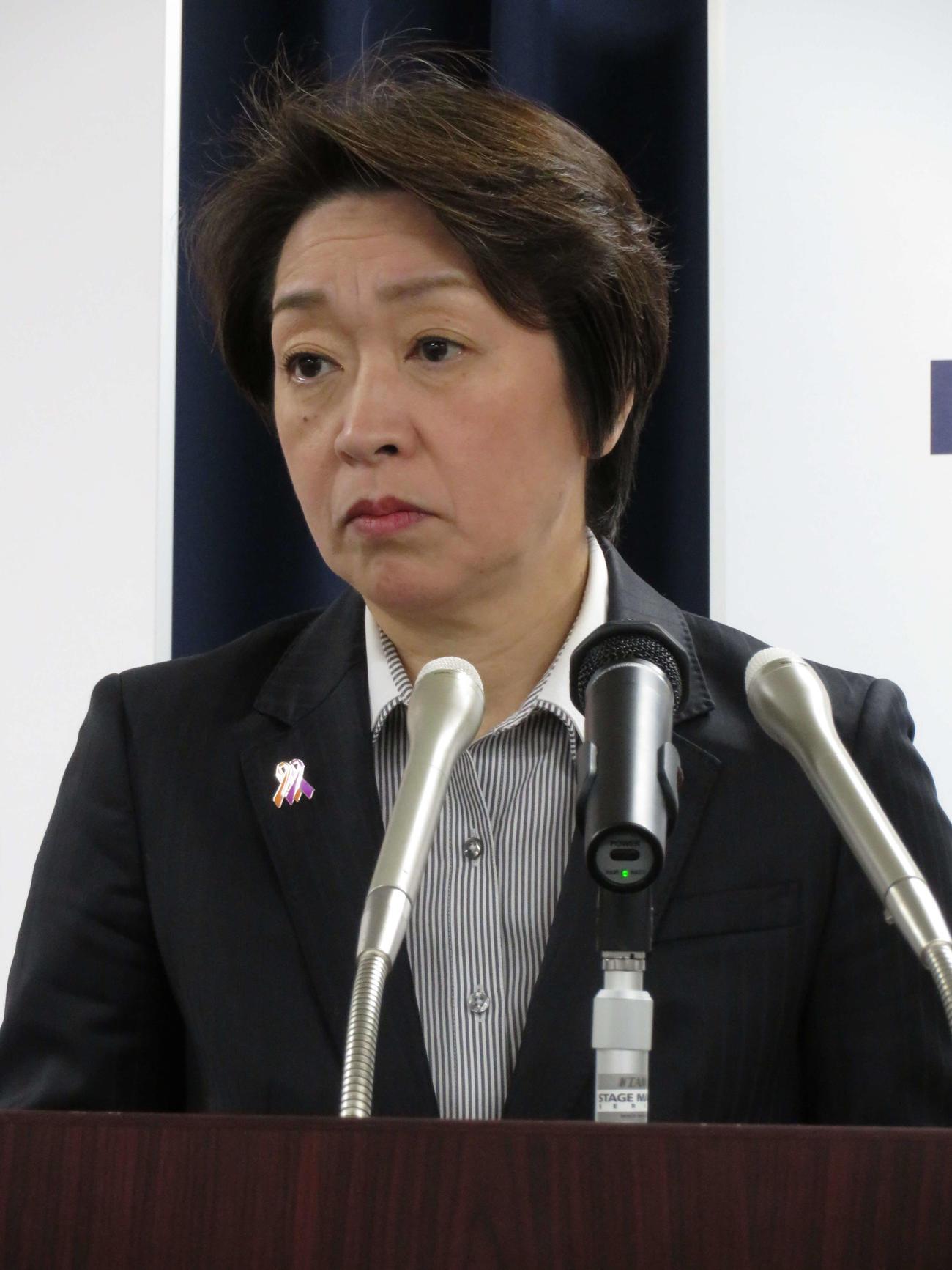 橋本聖子五輪相(2020年2月10日撮影)