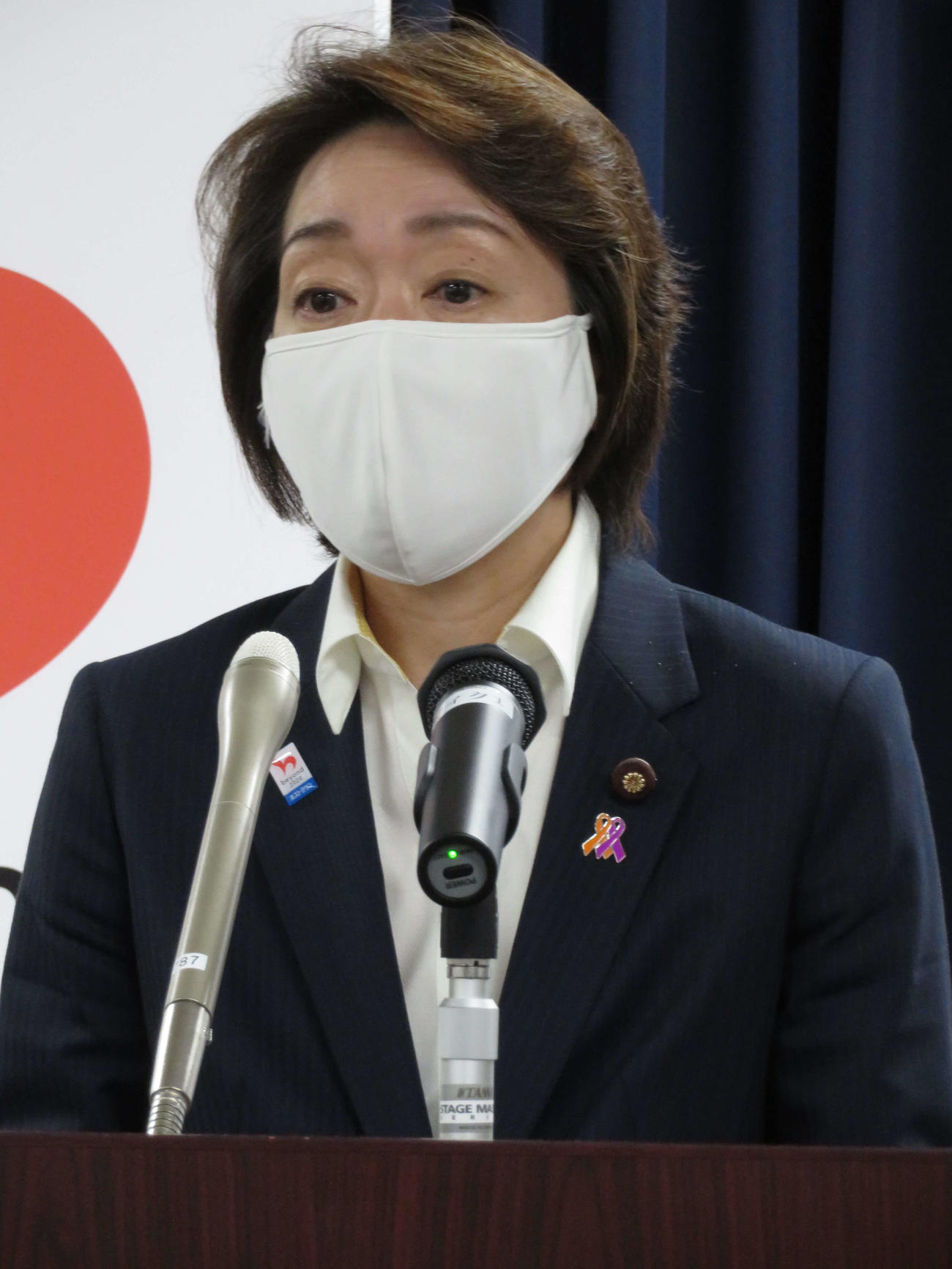 閣議後会見を行った橋本聖子五輪相(撮影・近藤由美子)