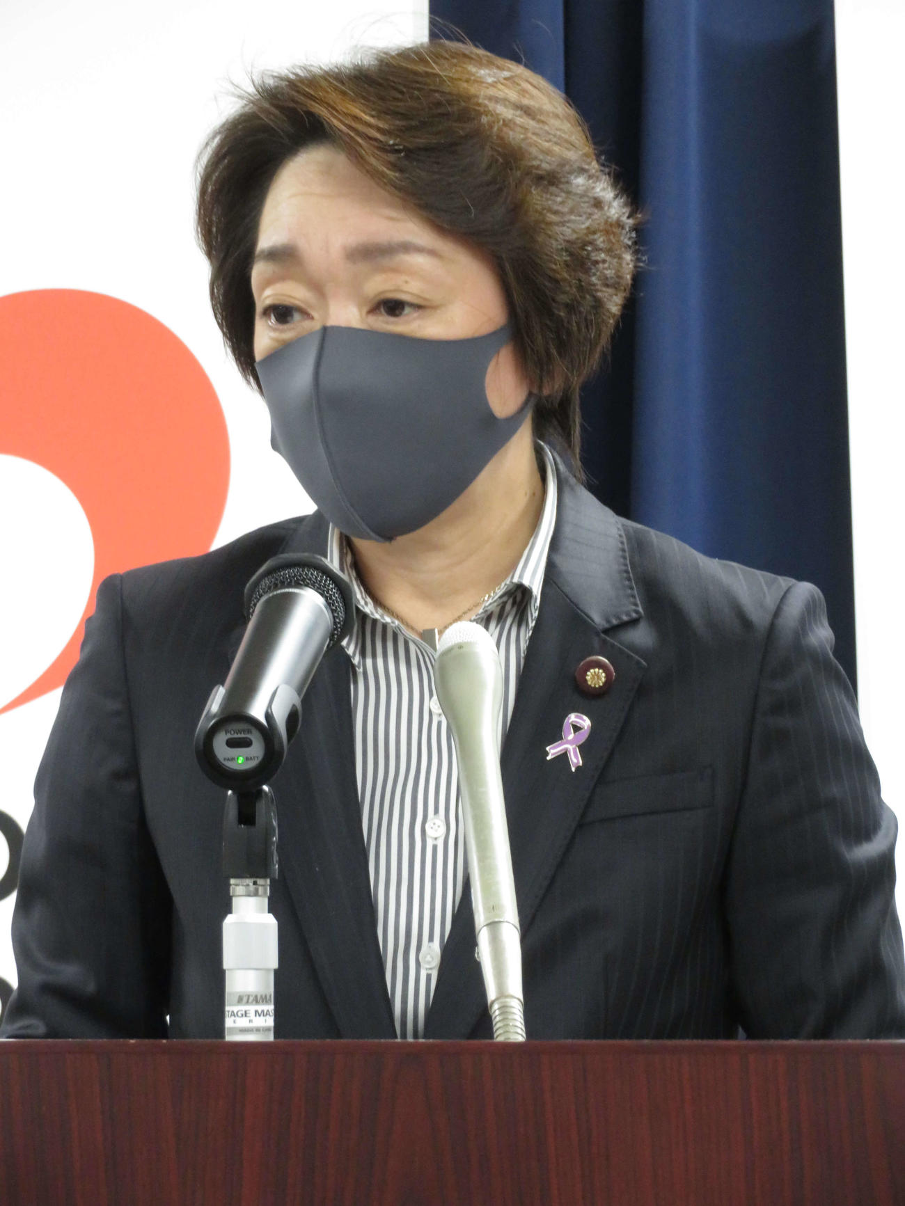 閣議後会見を行った橋本聖子五輪相(2020年11月20日)(撮影・近藤由美子)