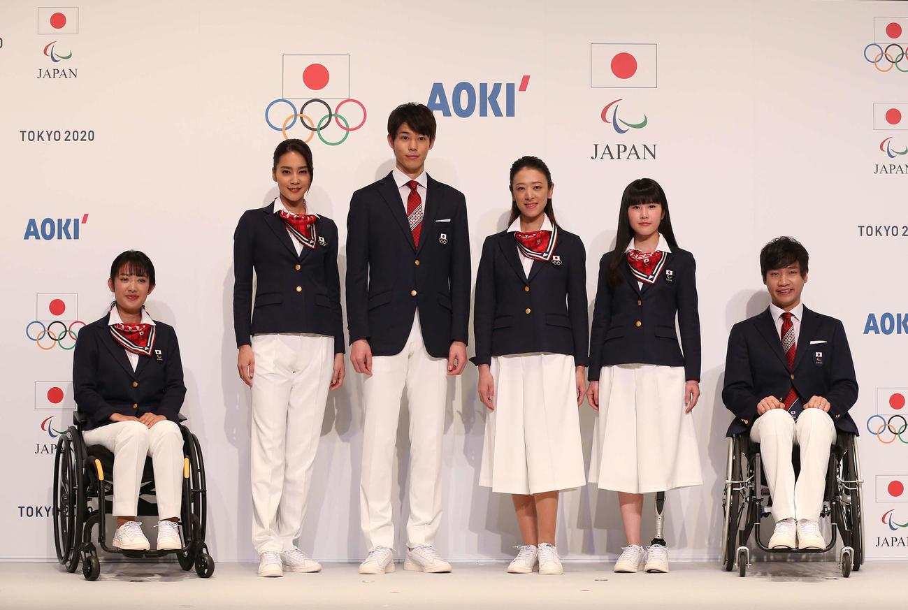 東京五輪での式典用公式服装が発表された(撮影・河野匠)