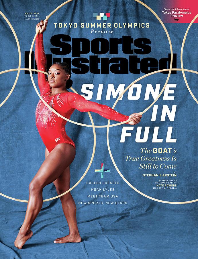 米誌スポーツ・イラストレイテッドの五輪特集号の表紙を飾ったバイルズ