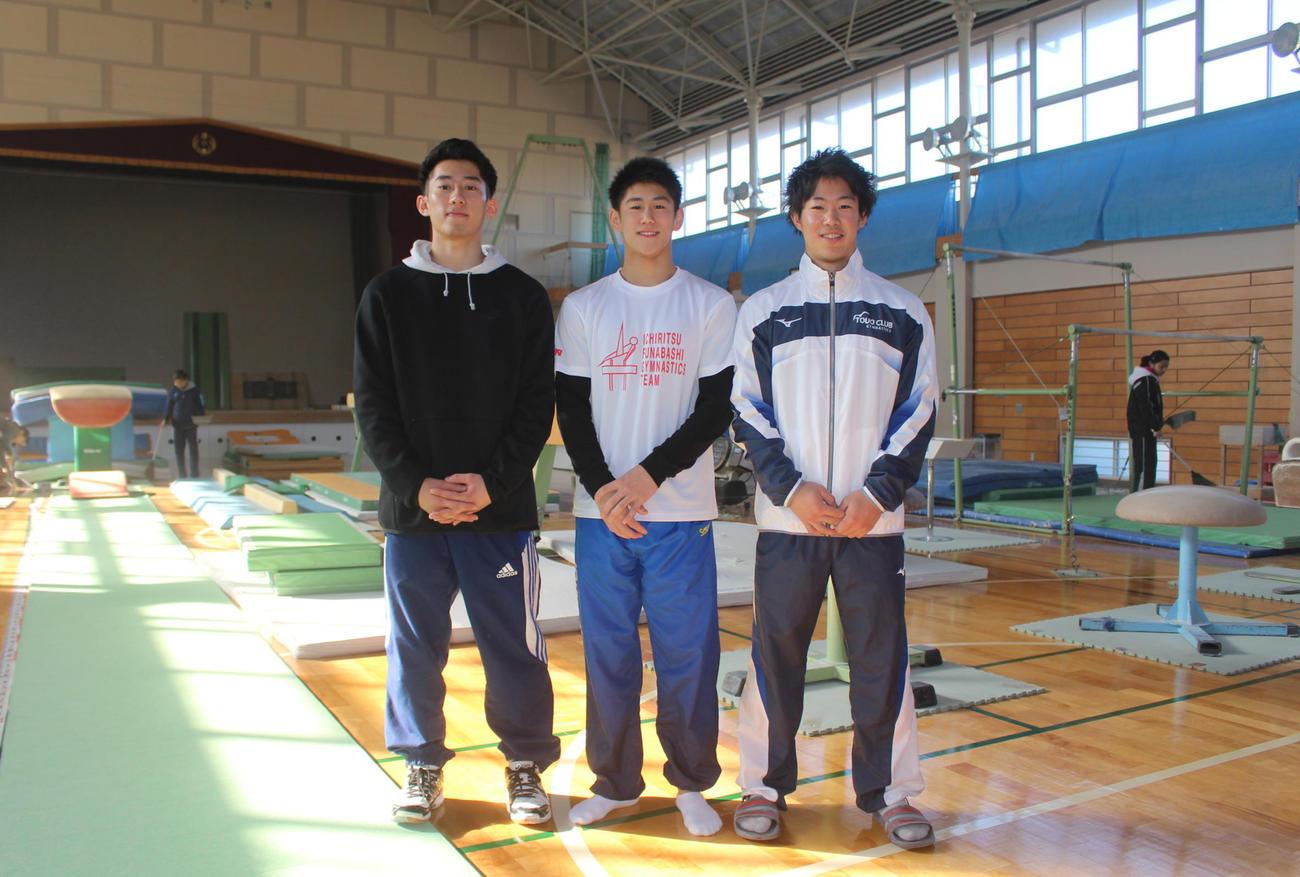 橋本3兄弟。左から次男健吾さん、三男大輝、長男拓弥さん。育った佐原ジュニアで