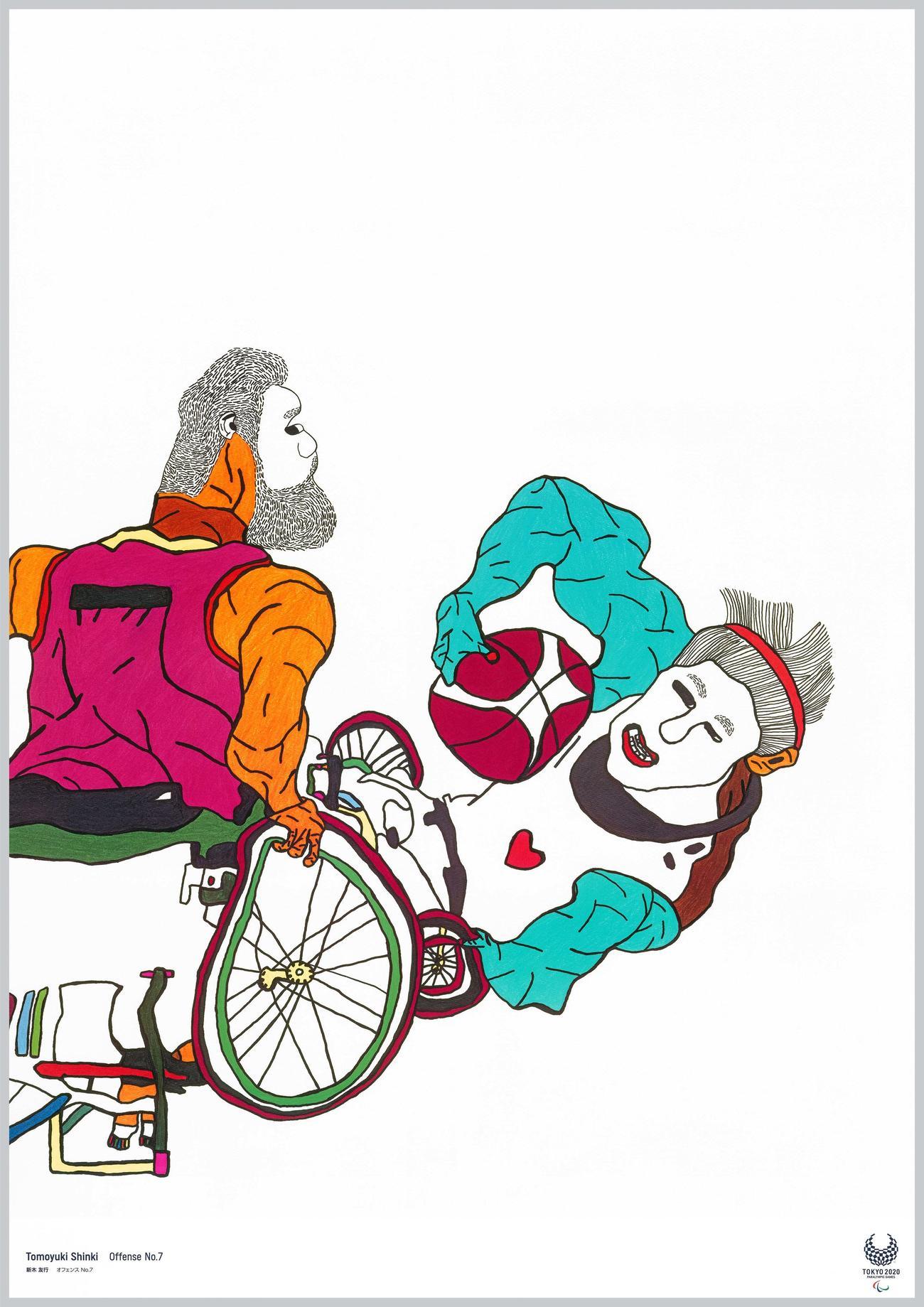 アーティスト新木友行氏が手掛けたパラリンピックをテーマにした作品「オフェンスNo.7」@Tokyo2020