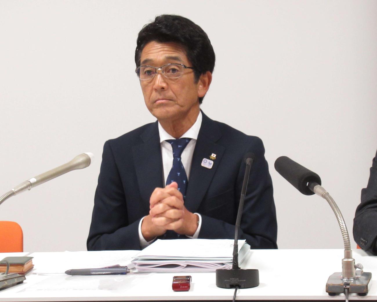 日本オリンピック委員会の福井専務理事(2020年1月29日撮影)