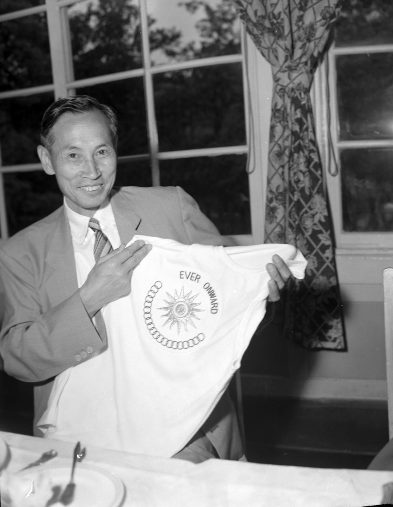 織田幹雄氏(1958年5月23日撮影)
