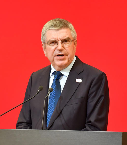 Photo of IOC Bach Chairman, Examination and Evaluation of Cost Reduction Measures for Tokyo Olympics