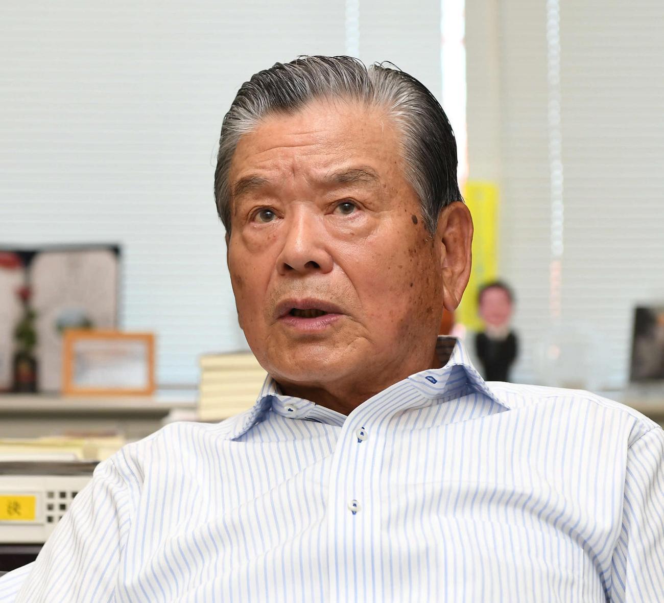 川淵三郎氏(17年9月撮影)