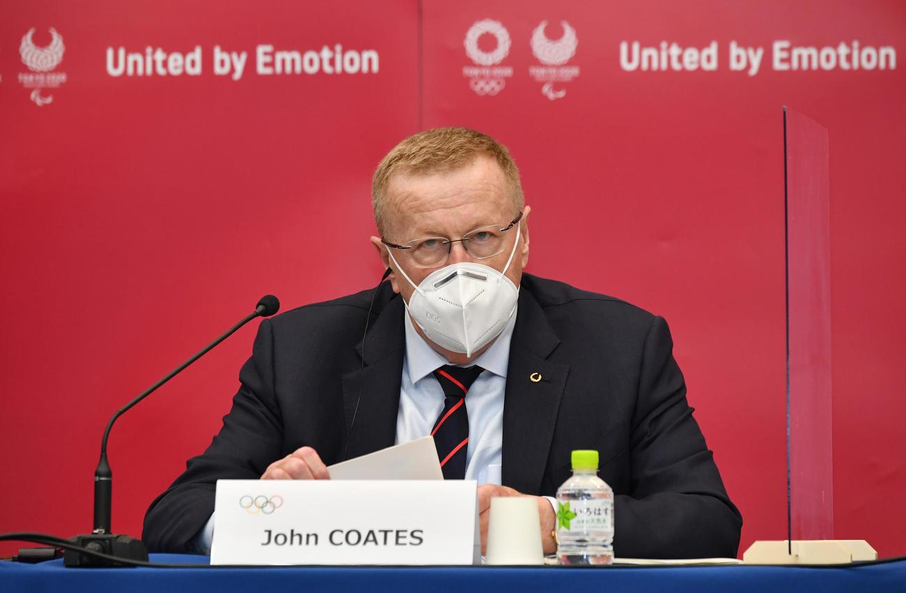 IOCのコーツ調整委員長(20年11月18日、代表撮影)