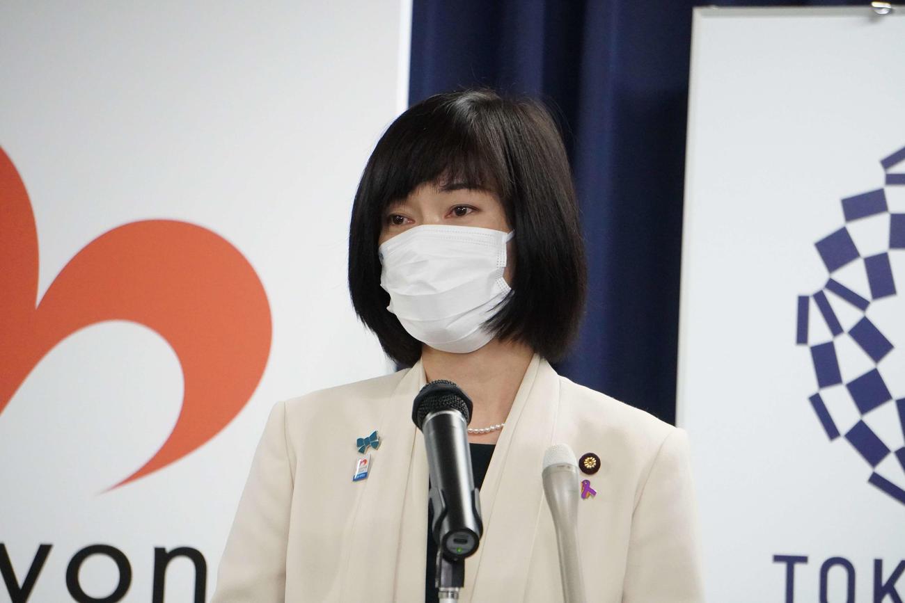 閣議後会見を開く丸川珠代五輪相(撮影・沢田直人)