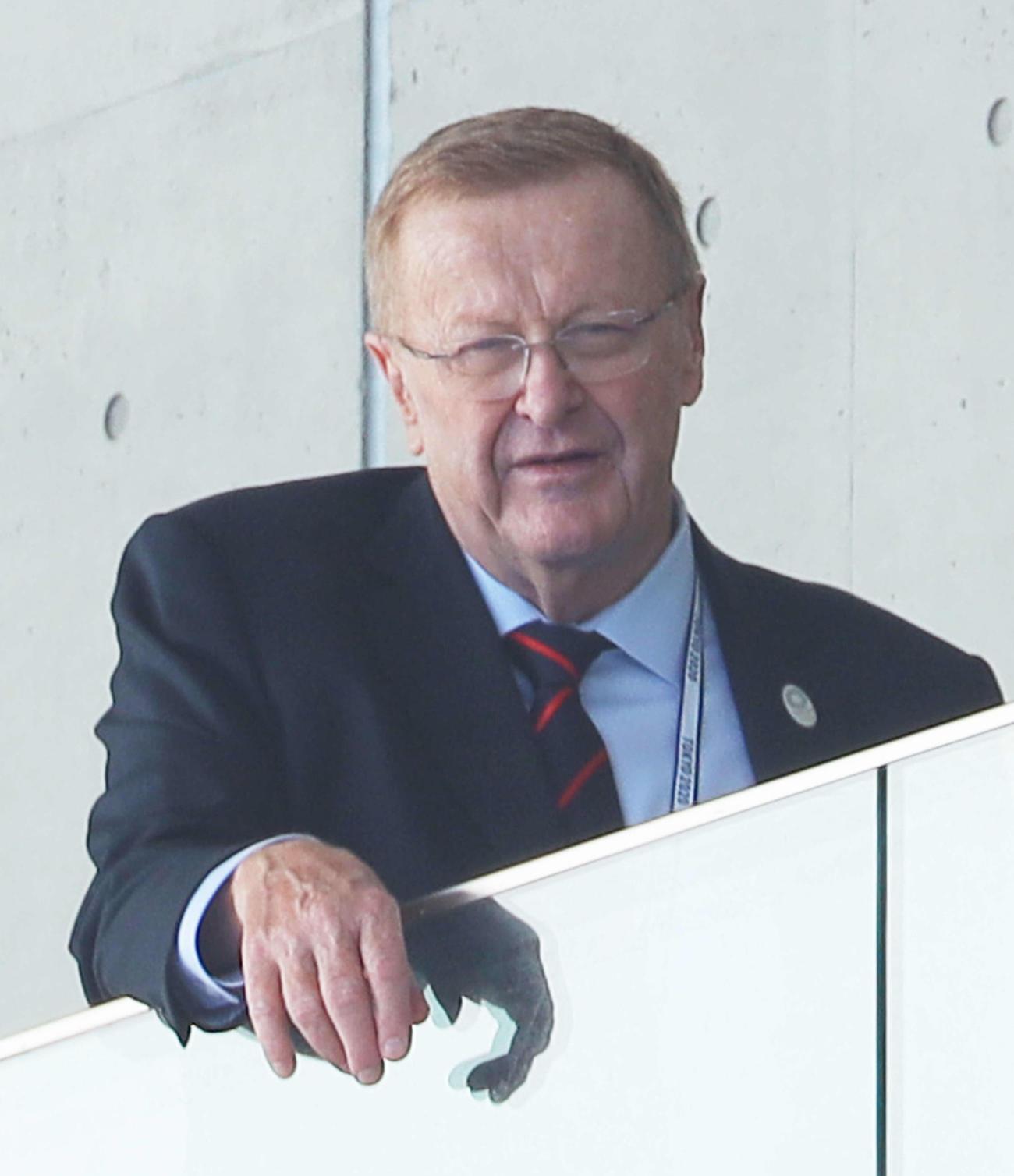 IOC調査委員会のジョン・コーツ委員長(2019年10月30日撮影)