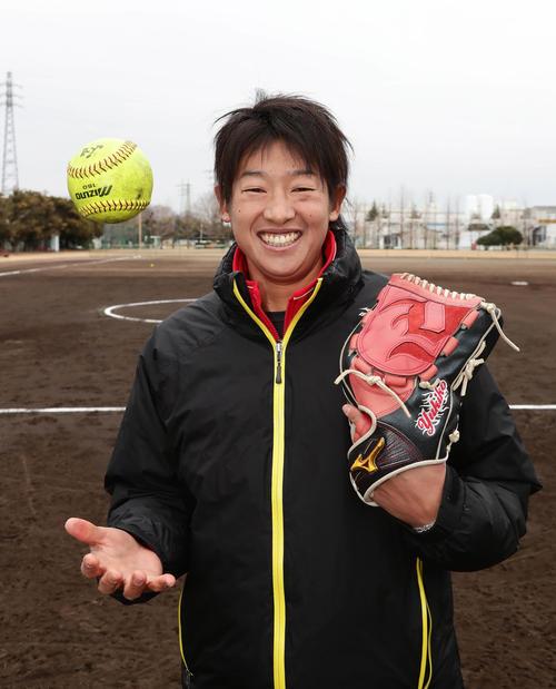 東京五輪のソフトボール初戦が自身の38歳の誕生日。「運命ですね」と、上野由岐子は言った(2019年2月9日撮影)