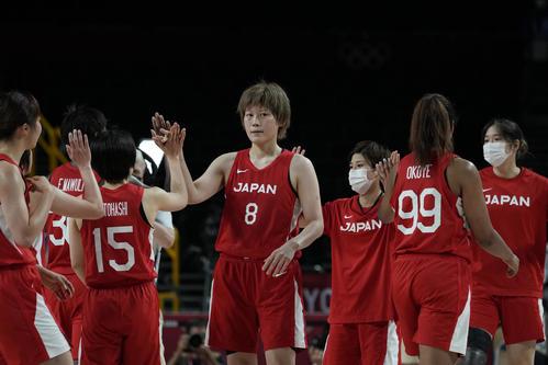 ナイジェリアに勝利したバスケ女子日本代表(AP)