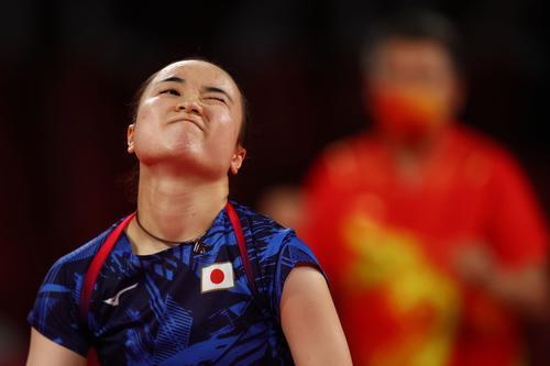 卓球女子団体決勝 日本-中国 第2試合 伊藤美誠(ロイター)