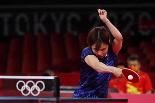 卓球女子団体決勝 日本-中国 第3試合 平野美宇(ロイター)