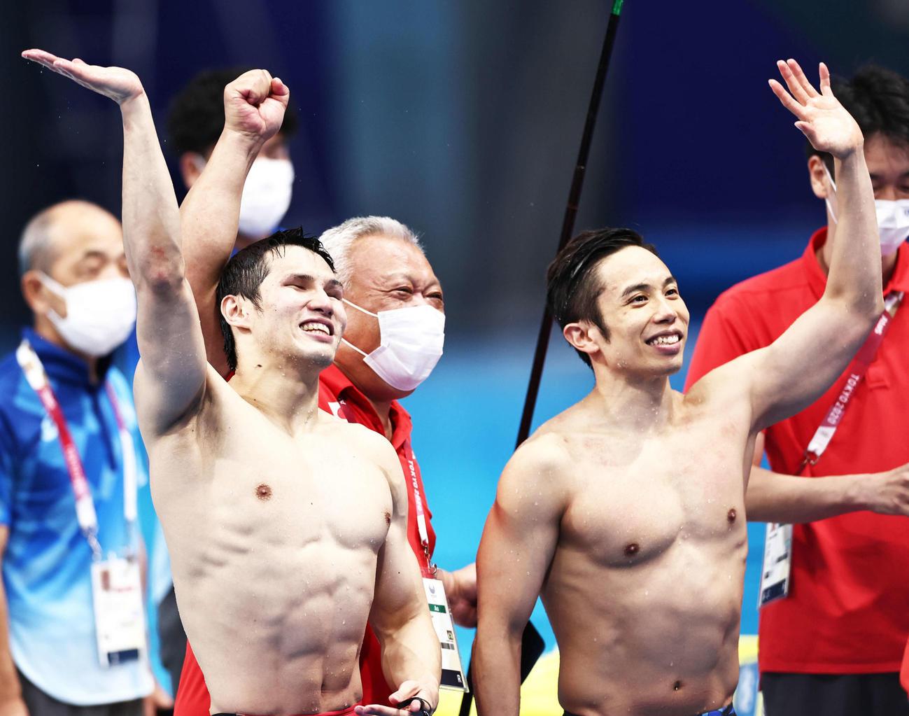 パラ水泳、木村敬一10年越し悲願金 2位富田宇宙とワンツーフィニッシュ