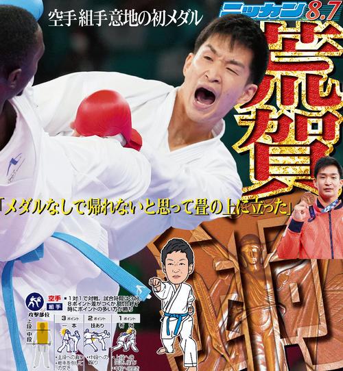 荒賀龍太郎 空手 男子組手75キロ超級