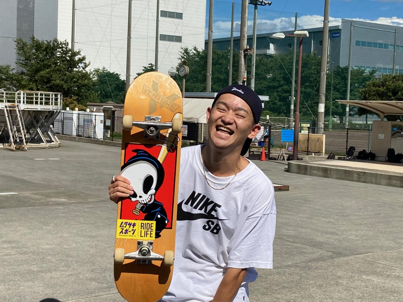 左膝の手術を乗り越えてパークに帰ってきたスケートボード・男子ストリートの白井空良