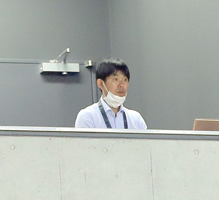 G大阪対広島 視察に訪れた日本代表森保監督(撮影・前田充)