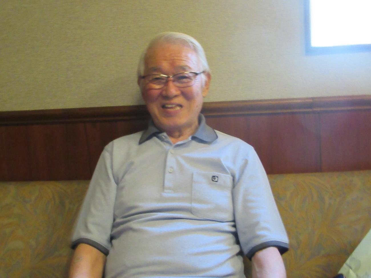 笑顔でW杯、五輪の日本代表のエールを送った杉山隆一さん(2018/05月21日撮影)