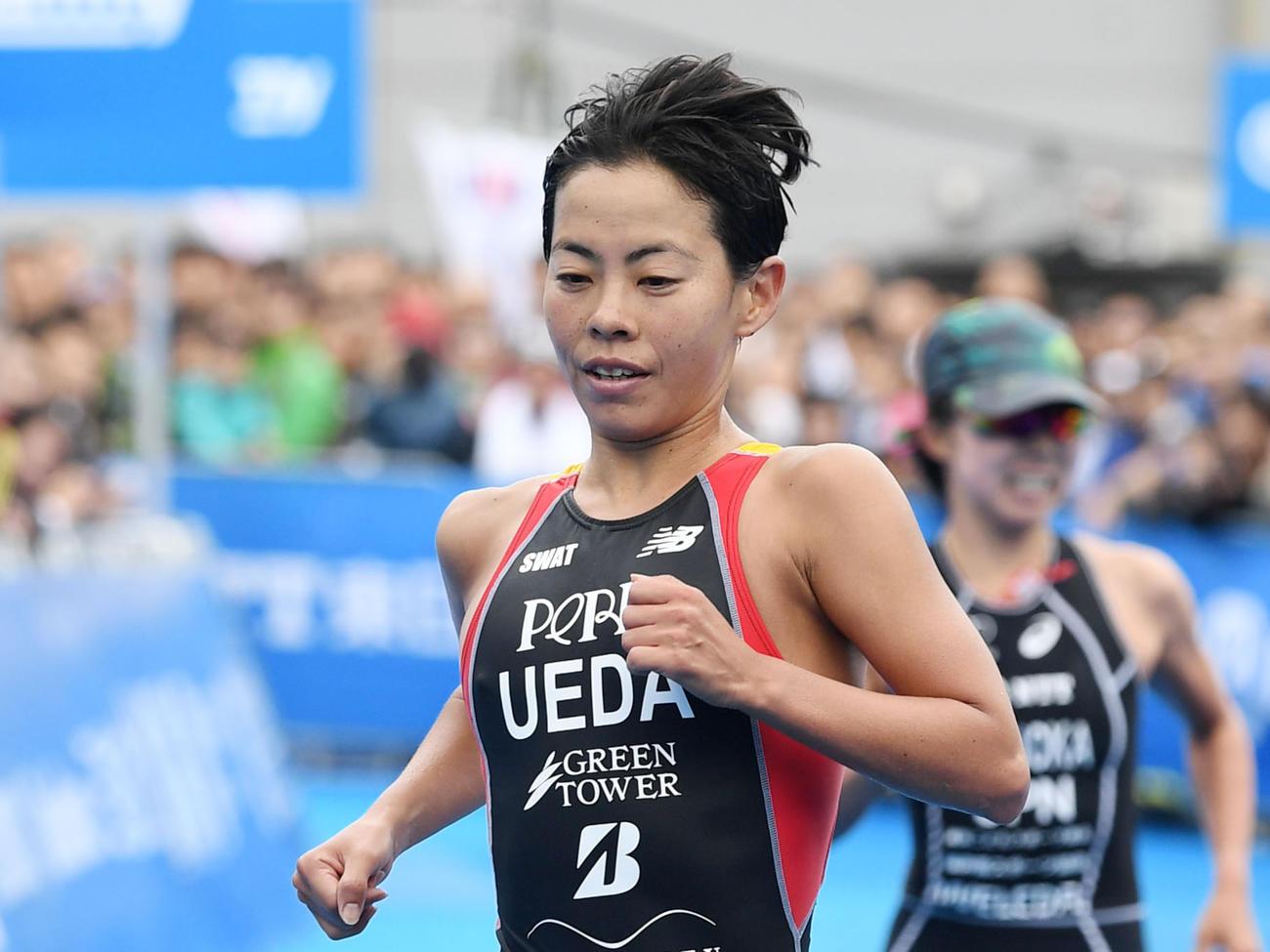 五輪競技先陣の世界トライアスロン 上田藍が27位